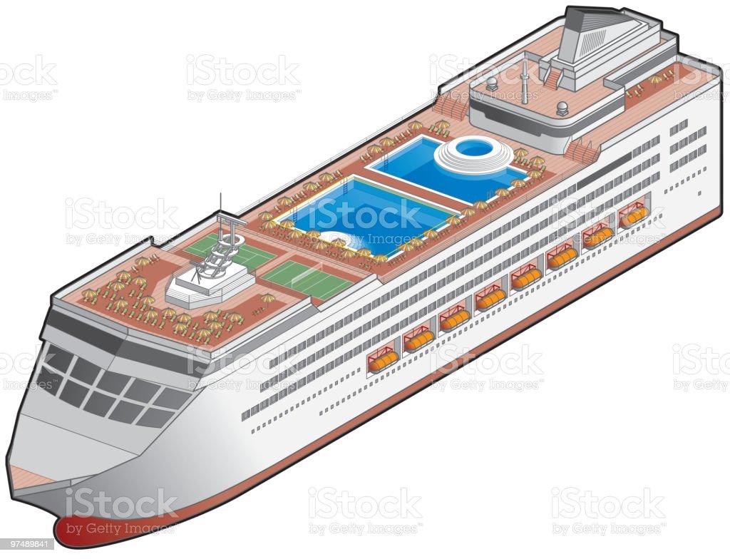 Passenger Ship Icon. Design Elements royalty-free passenger ship icon design elements stock vector art & more images of boat deck