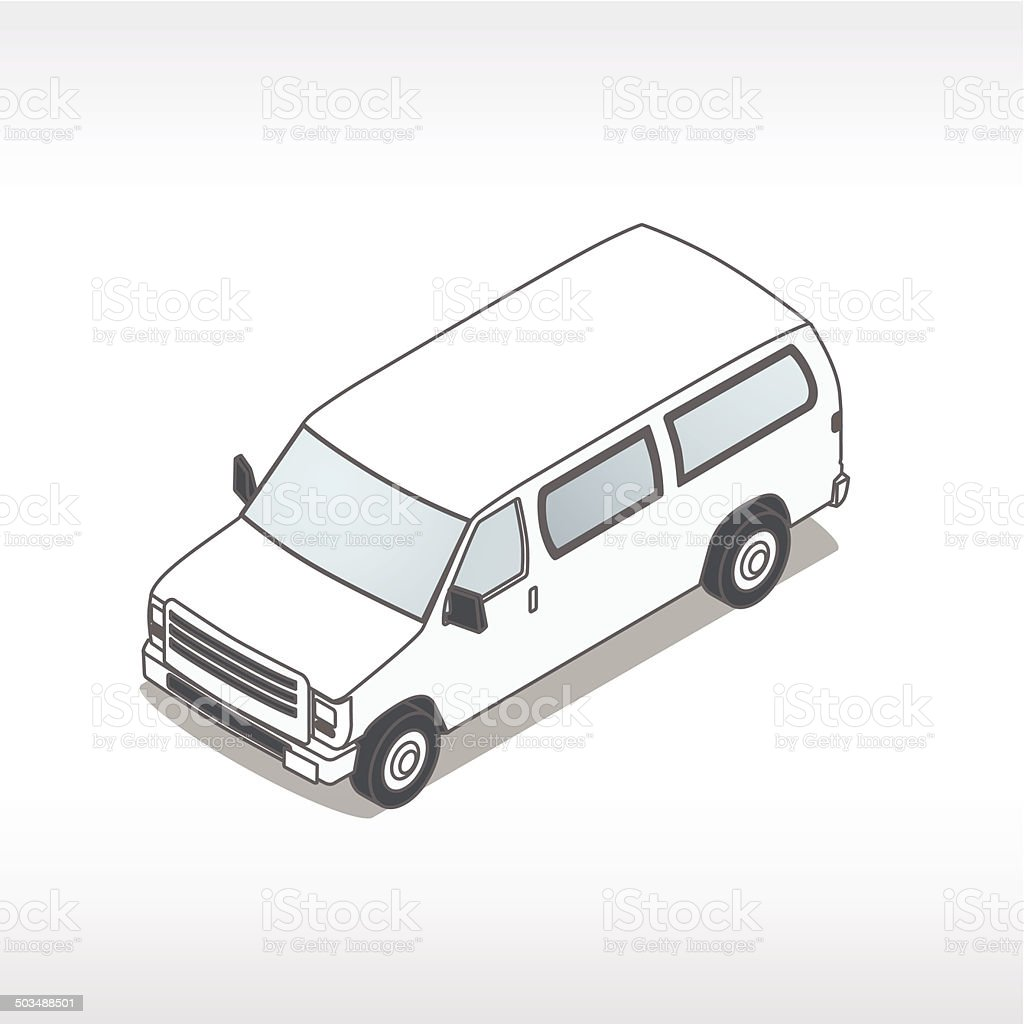 Passenger Van Illustration royalty-free stock vector art