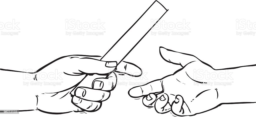 Passing The Baton Stock Vector Art Amp More Images Of Color