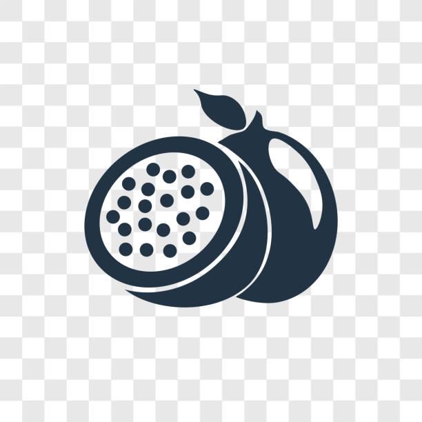 illustrations, cliparts, dessins animés et icônes de fruit de la passion vector icône isolé sur fond transparent, création de logo de transparence fruit de la passion - fruit de la passion