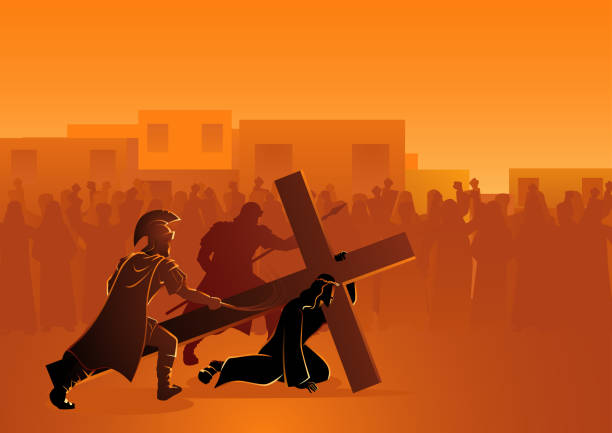 passion of christ - part of a series stock illustrations