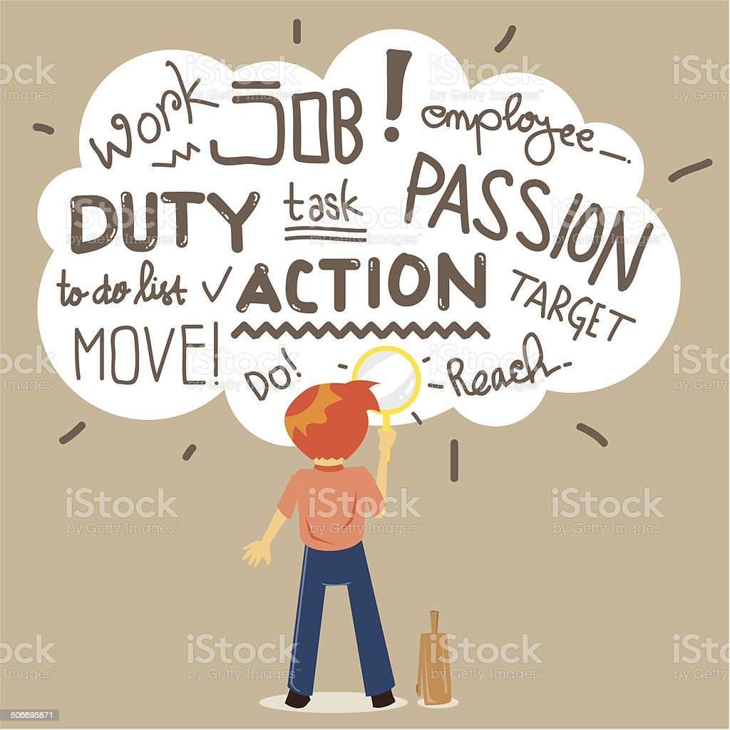 Passion to Work vector art illustration