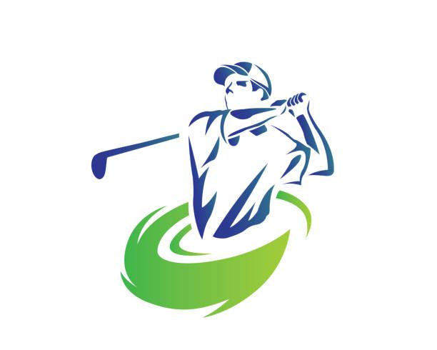 11d88947c9775 Passionate Professional Golf Athlete Illustration vector art illustration