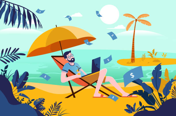 wealthy lifestyle stock illustrations