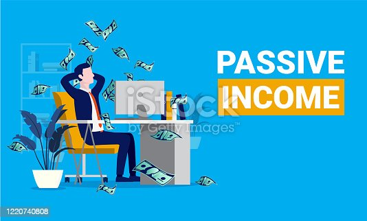Financial freedom, easy money and investor concept. Vector illustration