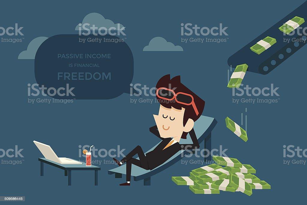 Passive income vector art illustration