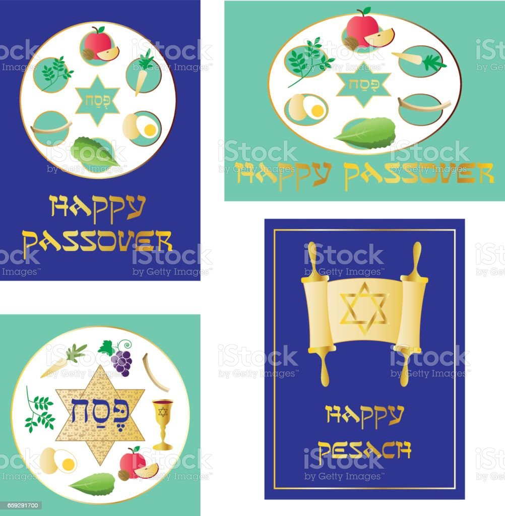 passover graphics vector art illustration