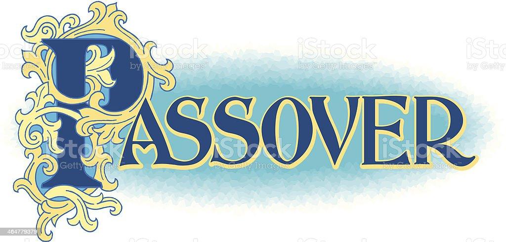 Passover Heading C royalty-free stock vector art