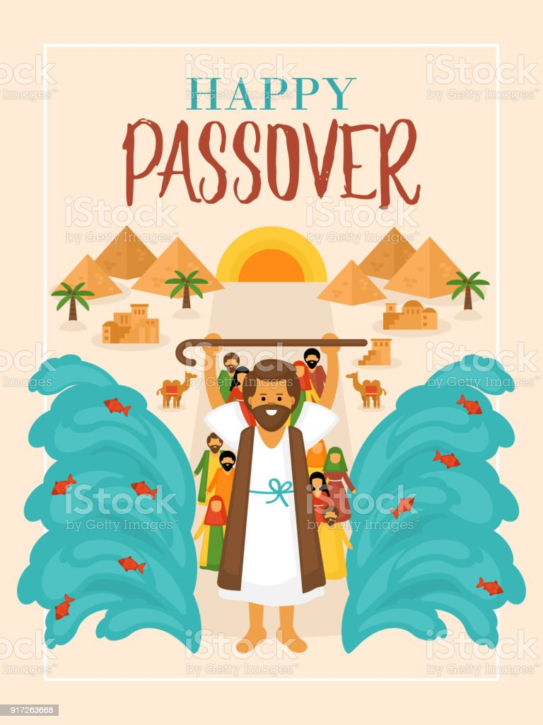 Passover holiday greeting card design vector art illustration