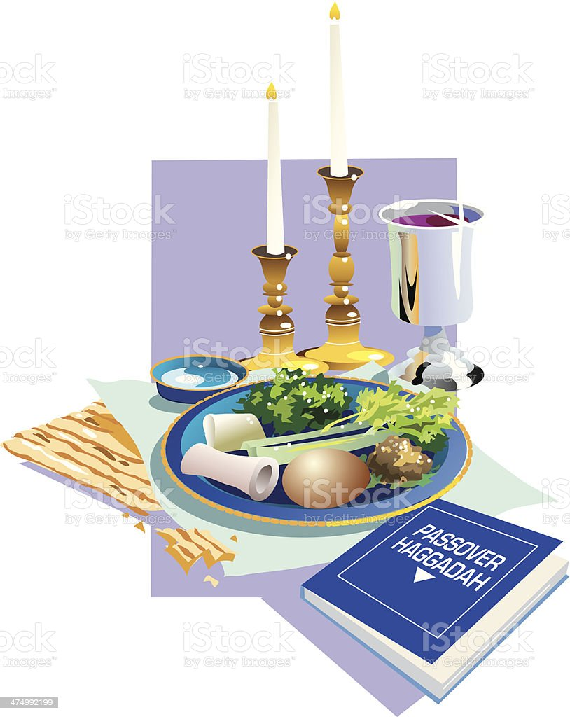 Passover Meal2 C royalty-free stock vector art