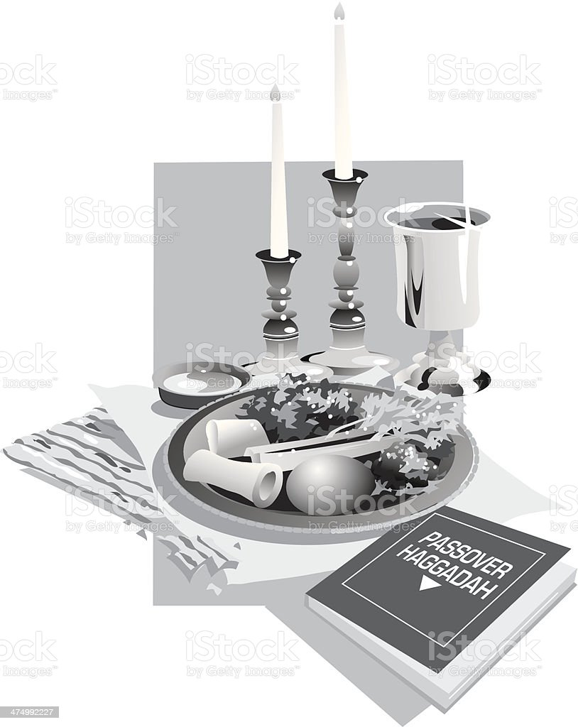 Passover Meal2 vector art illustration