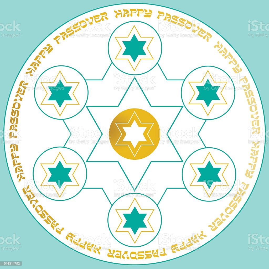 Passover Seder Plate Stock Vector Art More Images Of At The Edge