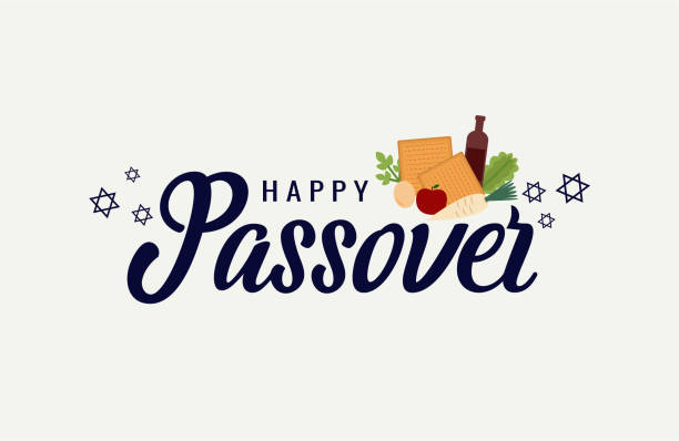 Passover Passover greeting card or background. vector illustration. passover stock illustrations
