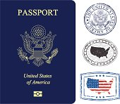 istock USA passport and stamps 165911577