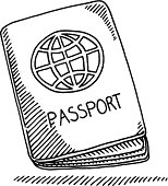 Passport Booklet Globe Drawing