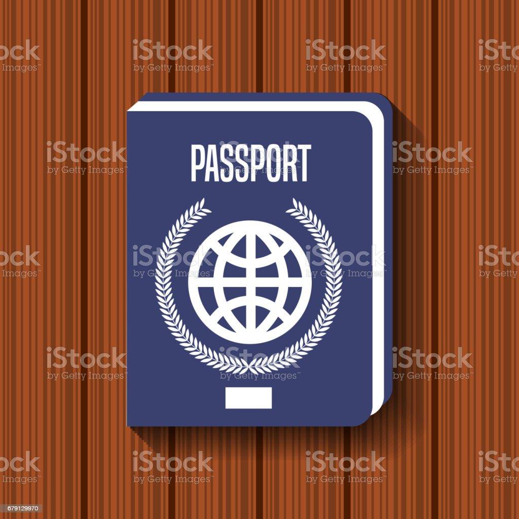 icône de voyage Passeport document icône de voyage passeport document – cliparts vectoriels et plus d'images de affaires libre de droits