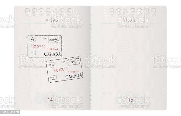 Passport pages with stamp of ottawa and toronto canada vector id951104478?b=1&k=6&m=951104478&s=612x612&h=e f1iidizq fvhqqelgyrl7tnk9s0wgbfhdjophbdsu=