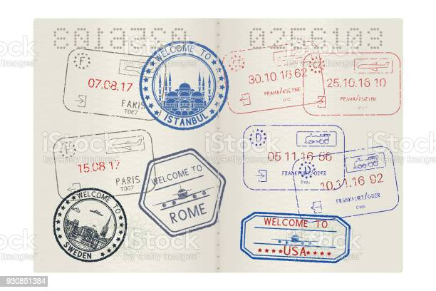 Passport pages with tourist international stamps vector id930851384?b=1&k=6&m=930851384&s=612x612&h=vp0fm5pluli  5jnsqnqvlamuyd8kjiamhtwroquz6i=