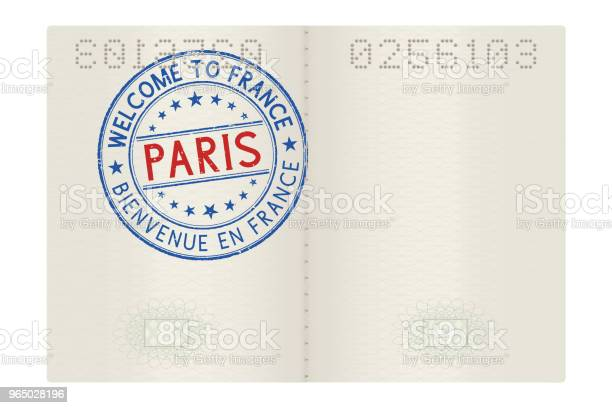 Passport pages with welcome to paris stamp tourist colored sign vector id965028196?b=1&k=6&m=965028196&s=612x612&h=fzwv9qgqg00eadmx1kwdkk1lnmfldrml7zfatltouwk=