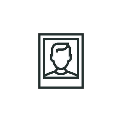 Passport Photograph Line Icon