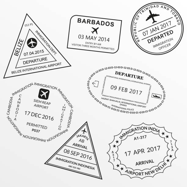 84 Indonesia Passport Stamp Illustrations Clip Art Istock