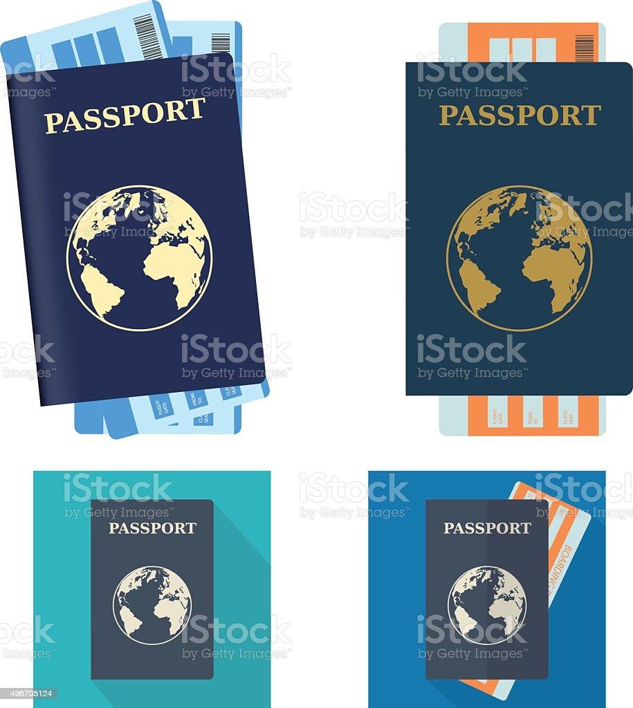 Passport vektorkonstillustration