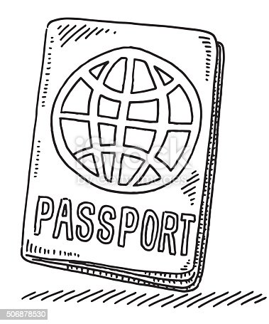 Passport With World Symbol Drawing Stock Vector Art & More ...