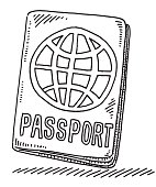 Passport With World Symbol Drawing