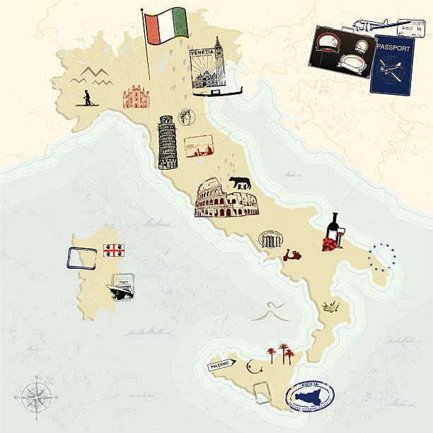 passporto italianna! - pompeii stock-grafiken, -clipart, -cartoons und -symbole
