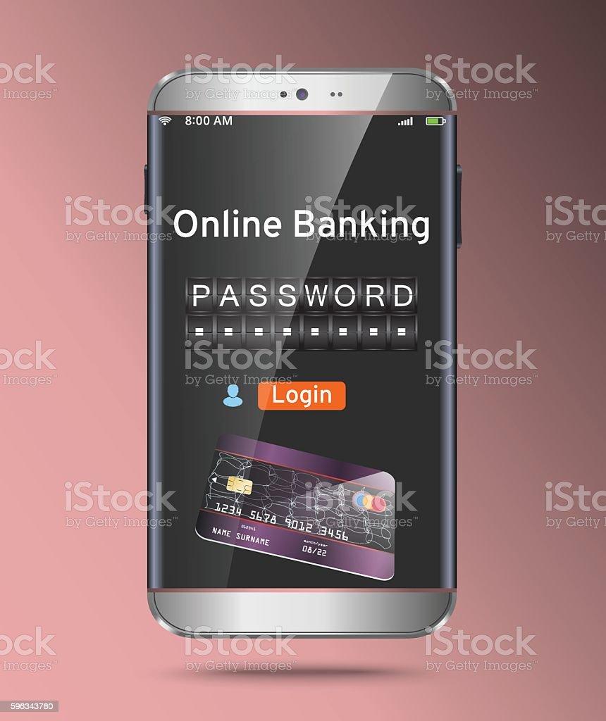 Password and login, shopping, banking operation on smartphone Lizenzfreies password and login shopping banking operation on smartphone stock vektor art und mehr bilder von antiviren-software