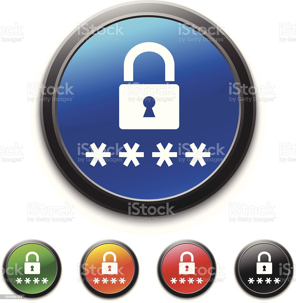 Password icon royalty-free stock vector art