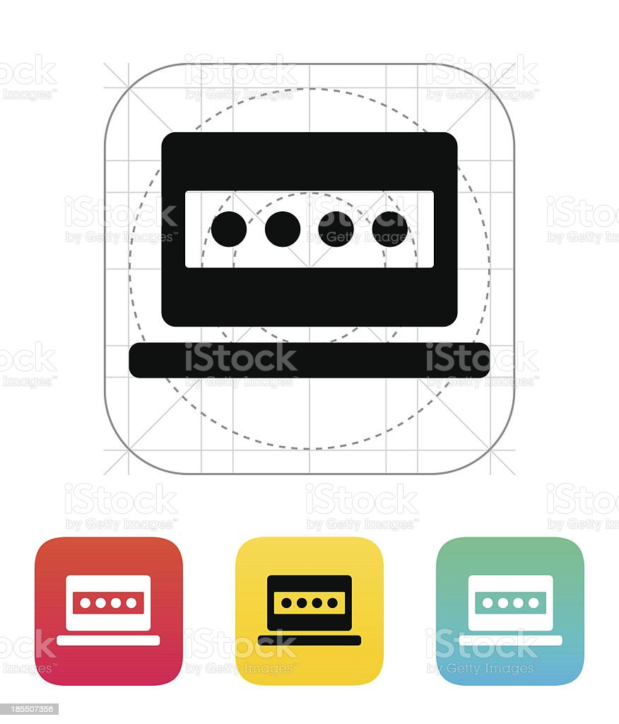Password in laptop icon. royalty-free password in laptop icon stock vector art & more images of accessibility