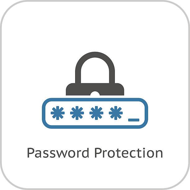 bildbanksillustrationer, clip art samt tecknat material och ikoner med password protection icon. flat design. - logga in