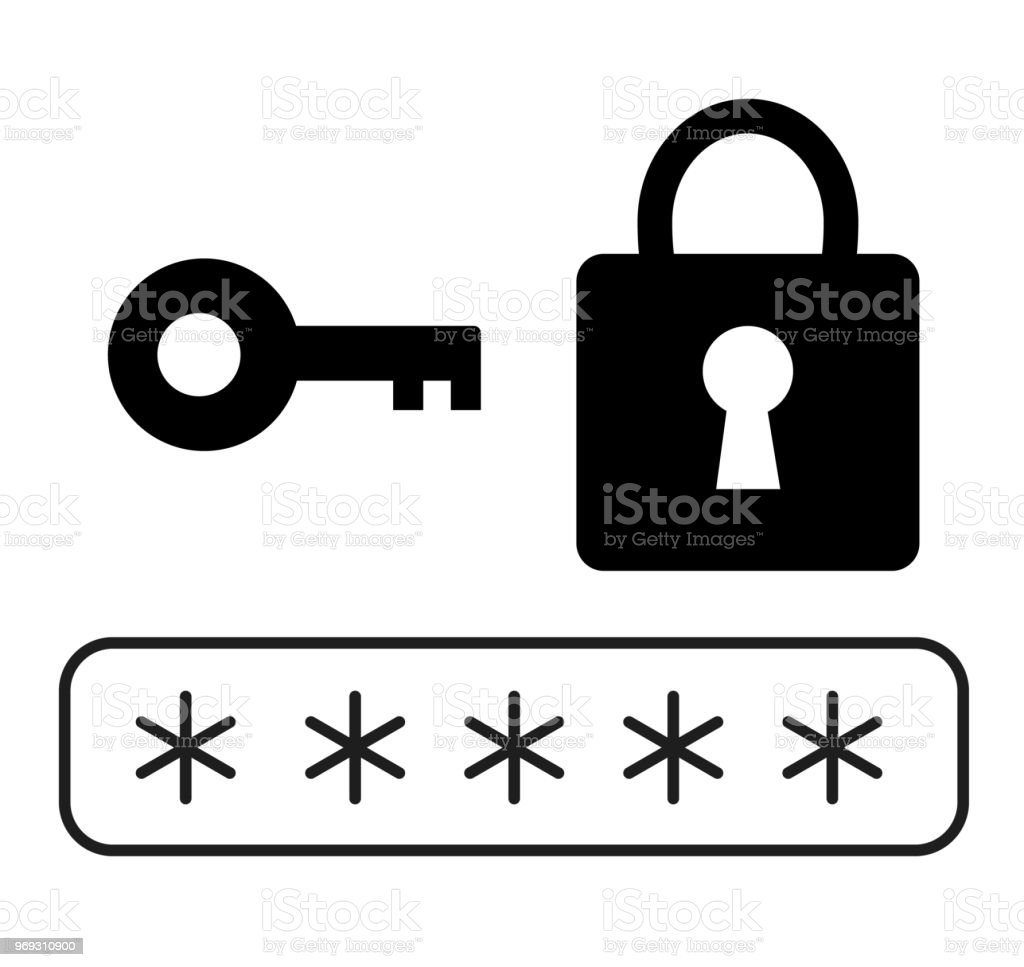 Password Security Icon On White Background Flat Style Password