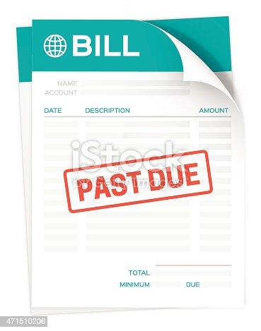 istock Past Due Bill 471510206