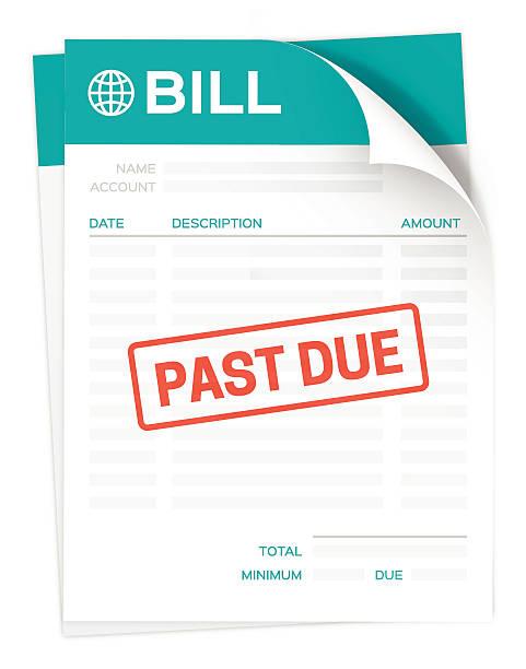 Past Due Bill vector art illustration
