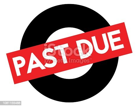 istock Past due stamp on white 1081155488