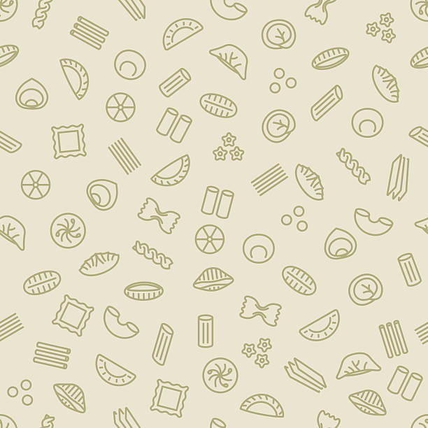 pasta and dumplings seamless pattern pasta and dumplings seamless pattern rotelle stock illustrations