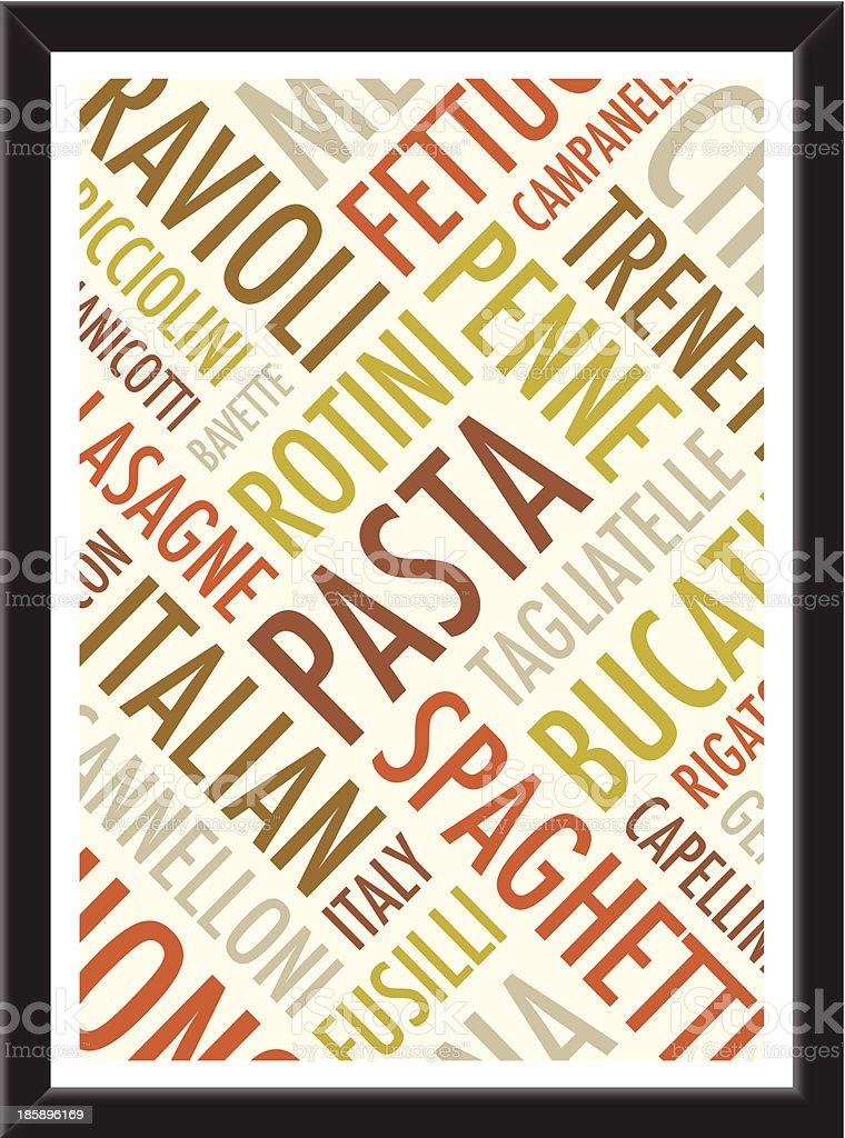 pasta background royalty-free stock vector art