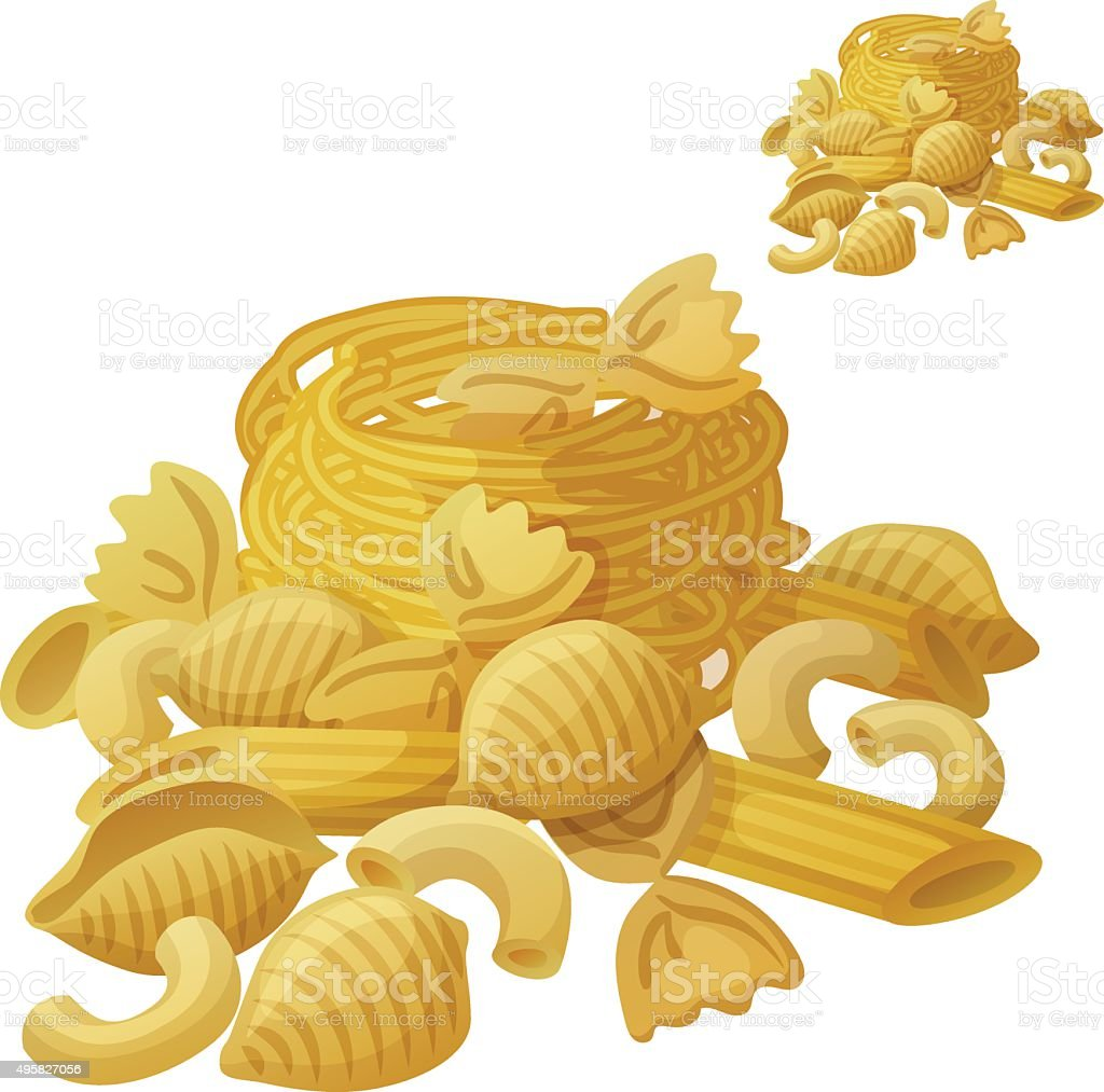 Pasta. Detailed Vector Icon isolated on white background vector art illustration