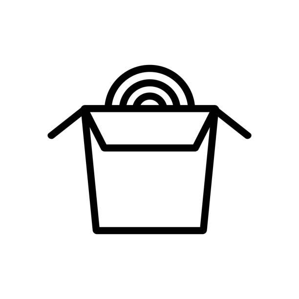 pasta aus weizen-ikone-vektor. abbildung des isolierten kontursymbols - blütenstand stock-grafiken, -clipart, -cartoons und -symbole