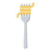 istock Pasta Icon on Transparent Background 1283430411