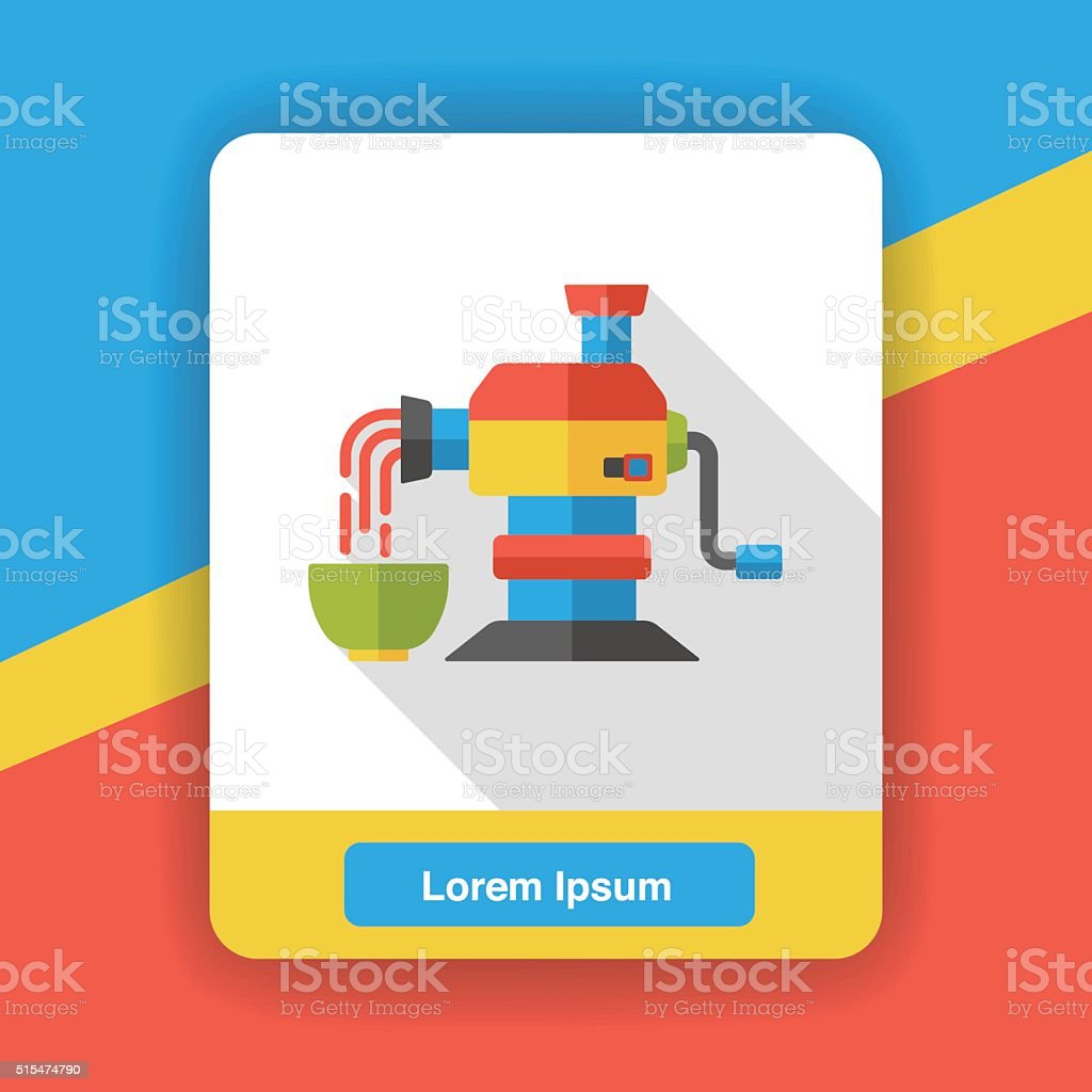 Pasta Maker Flat Icon Stock Vector Art & More Images of Cooking - iStock
