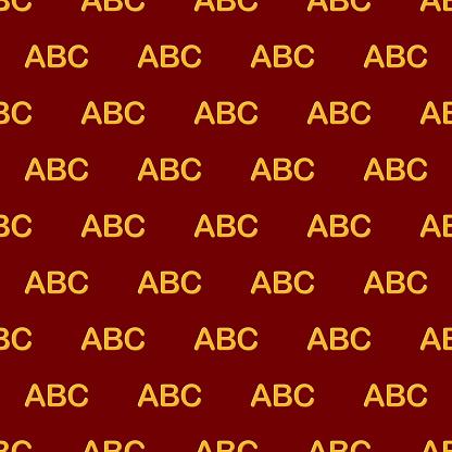 Pasta Pattern alphabet