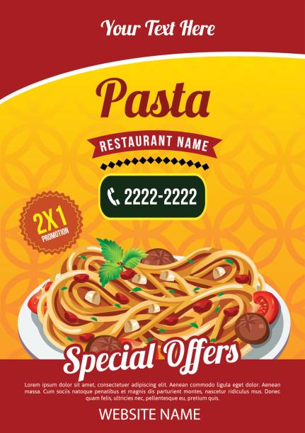 pasta-vorlage - spaghetti stock-grafiken, -clipart, -cartoons und -symbole