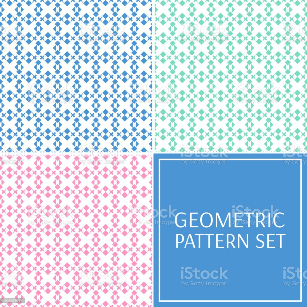 Pastel abstract geometric pattern seamless vector vector art illustration