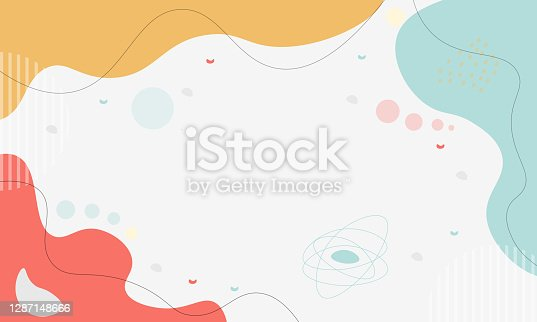 istock Pastel Abstract Shapes Background 1287148666