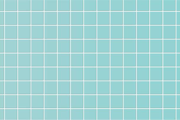 ilustrações de stock, clip art, desenhos animados e ícones de pastel blue floor tile. texture illustration vector. - azulejo