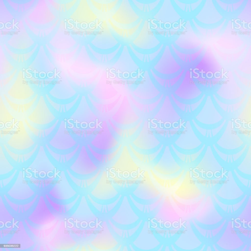 Pastel blue mermaid vector background. Multicolored iridescent background. vector art illustration