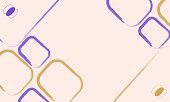 Pastel color art frame. Modern card design, brush strokes, lines, dots, gold, premium flyer, flyer